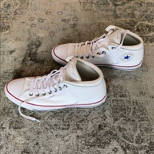 Men's White Leather Converse All Star (Size 11)